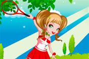 Funky Tennis Girl