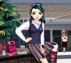 Schoolmeisje aankleden